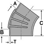 Shields 116-245-3120-1 ELBOW EPDM 45 DEG 3.5IN