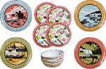 Camp Casual CC-001 DISH SET-12PC VINTAGE ROADTRIP