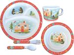 Camp Casual CC-002 DISH SET-5PC OWL&BEAR CAMPSITE