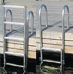 WELDED HEAVY DUTY ALUMINUM SLIDE UP LADDER (DOCK EDGE)