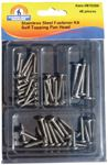 ASSORTED 48 PIECE STAINLESS STEEL SELF-TAPPING SCREW KIT (HANDIMAN)