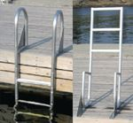 WELDED HEAVY DUTY ALUMINUM FLIP-UP LADDERS (DOCK EDGE)